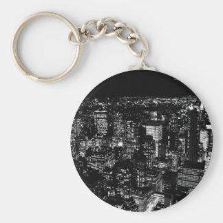 Black & White New York Keychain