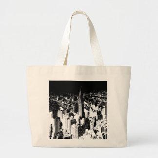 Black & White New York Large Tote Bag