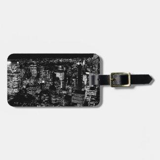Black & White New York Luggage Tag