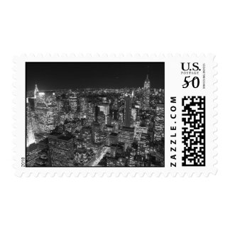 Black & White New York Night Postage