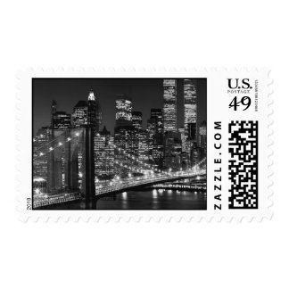 Black & White New York Night Postage