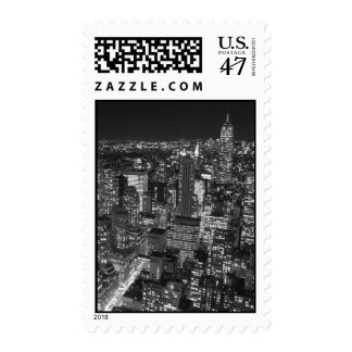 Black & White New York Night Stamp