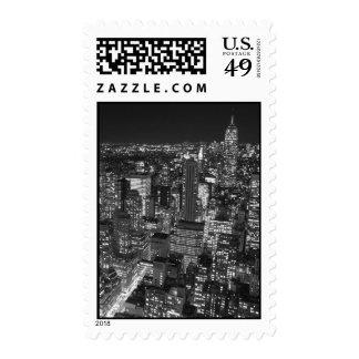Black & White New York Night Stamp