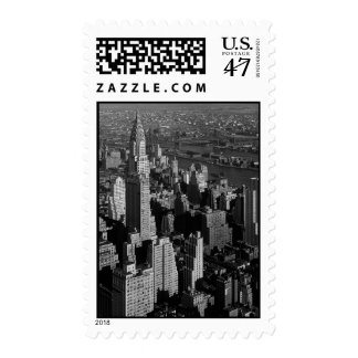 Black & White New York Postage Stamps