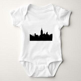 Black White New York Silhouette Baby Bodysuit