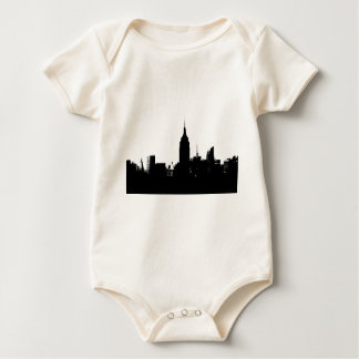 Black White New York Silhouette Baby Bodysuit