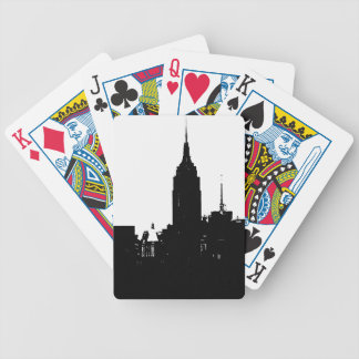 Black White New York Silhouette Bicycle Playing Cards
