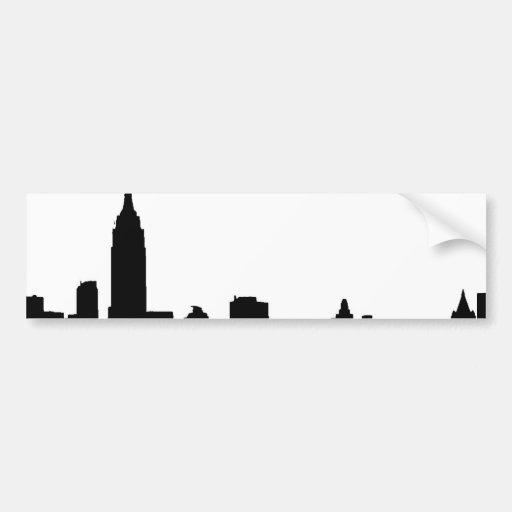 Black & White New York Silhouette Bumper Sticker