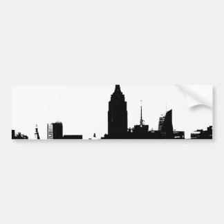 Black White New York Silhouette Car Bumper Sticker
