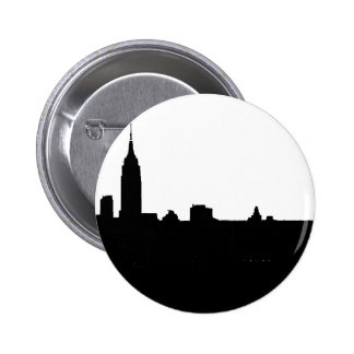 Black & White New York Silhouette Button