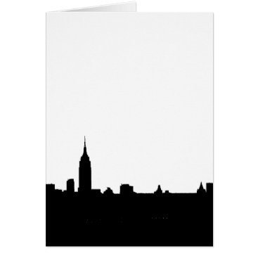 Professional Business Black & White New York Silhouette Card