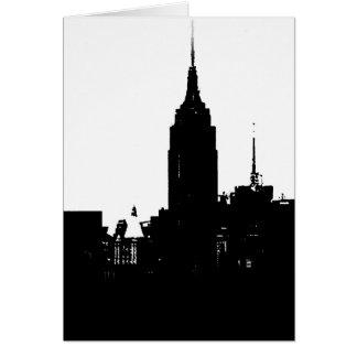 Black White New York Silhouette Card