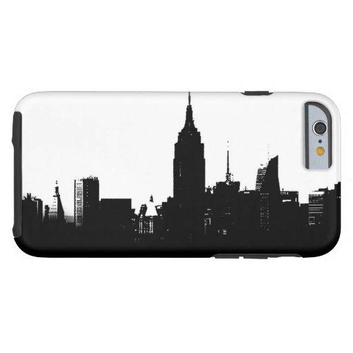 Black White New York Silhouette Tough iPhone 6 Case