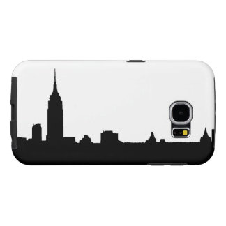 Black & White New York Silhouette Samsung Galaxy S6 Cases