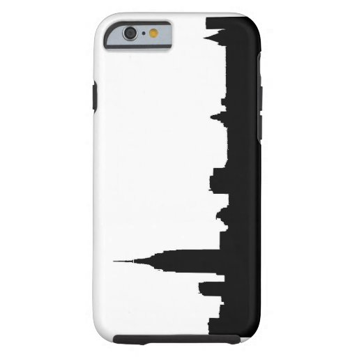 Black & White New York Silhouette iPhone 6 Case