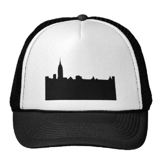 Black & White New York Silhouette Mesh Hat