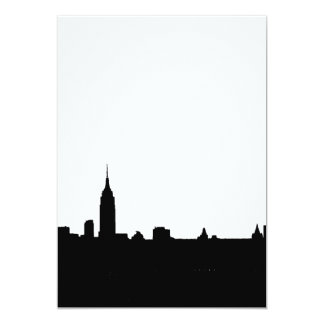 Black & White New York Silhouette Invitation