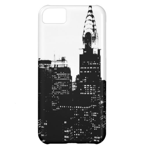 Black & White New York Silhouette iPhone 5C Covers