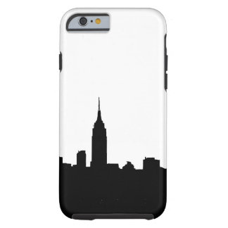 Black White New York Silhouette iPhone 6 Case