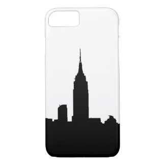 Black White New York Silhouette iPhone 7 Case