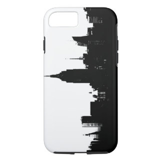 Black White New York Silhouette iPhone 8/7 Case