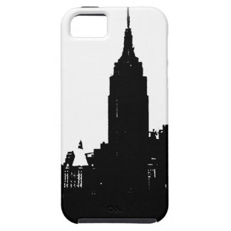 Black White New York Silhouette iPhone SE/5/5s Case