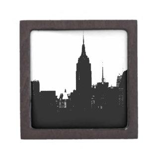 Black White New York Silhouette Jewelry Box