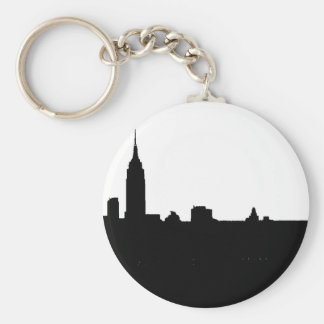 Black & White New York Silhouette Keychain