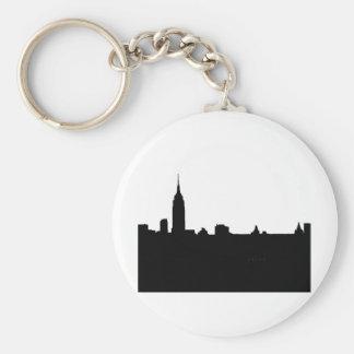 Black & White New York Silhouette Keychain