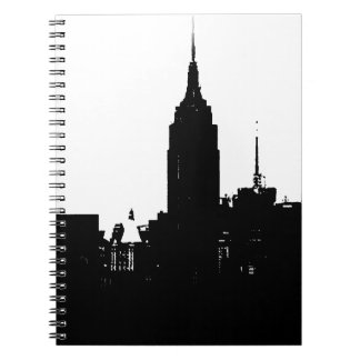 Black White New York Silhouette Notebook