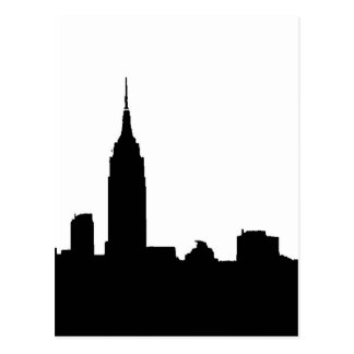 Black & White New York Silhouette Post Cards
