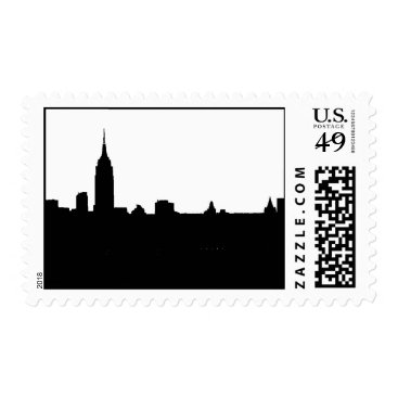 Professional Business Black & White New York Silhouette Postage
