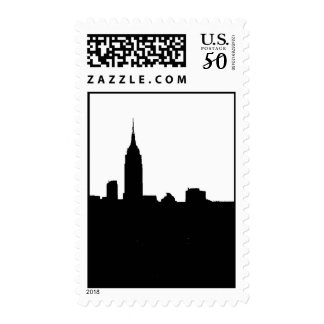 Black & White New York Silhouette Postage