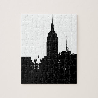 Black White New York Silhouette Puzzles