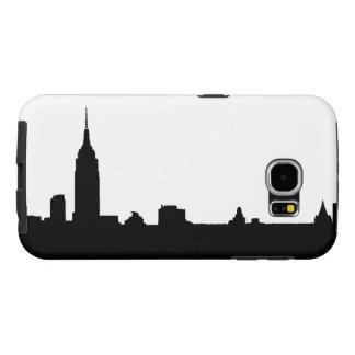 Black & White New York Silhouette Samsung Galaxy S6 Case