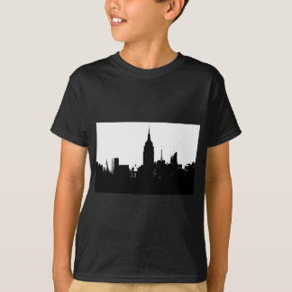 Black White New York Silhouette T-Shirt