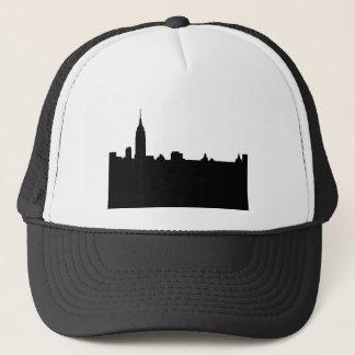 Black & White New York Silhouette Trucker Hat
