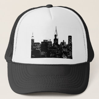Black & White New York Silhouette Trucker Hat