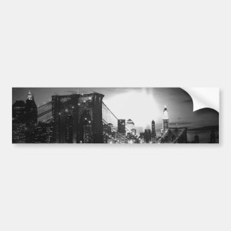 Black & White New York Skyline Car Bumper Sticker