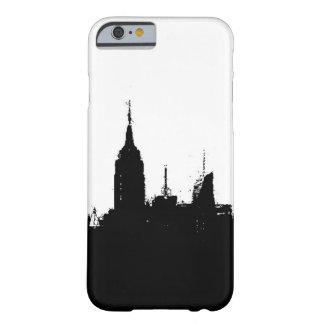 Black White New York Skyline iPhone 6 Case