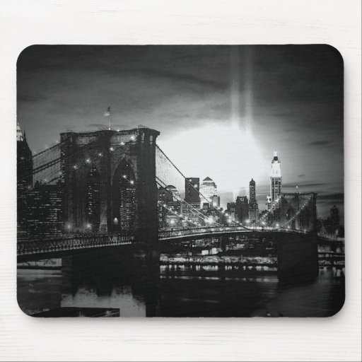 Black & White New York Skyline Mouse Pads