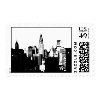 Black & White New York Stamps
