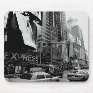 Black White New York Times Square Mouse Pad