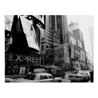 Black White New York Times Square Postcard