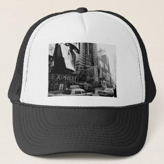 Black White New York Times Square Trucker Hat