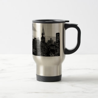 Black & White New York Travel Mug