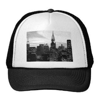 Black & White New York Trucker Hat