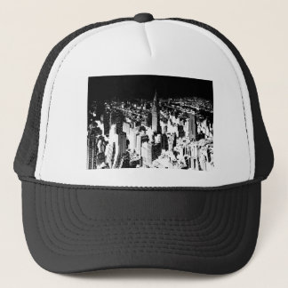 Black & White New York Trucker Hat