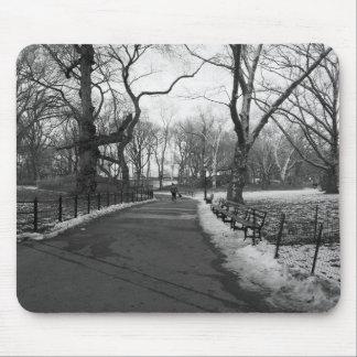 Black White NY Central Park Mouse Pad