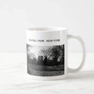 Black White NY Central Park Classic White Coffee Mug